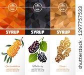 vector set of templates... | Shutterstock .eps vector #1297757533