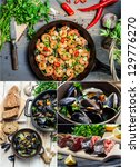 The taste of seafood - stock photo