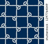 seamless nautical rope pattern. ... | Shutterstock .eps vector #1297764049