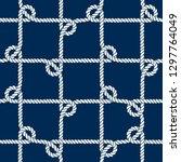 seamless nautical rope pattern. ... | Shutterstock .eps vector #1297764049
