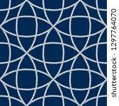 seamless nautical rope pattern. ... | Shutterstock .eps vector #1297764070