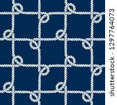 seamless nautical rope pattern. ... | Shutterstock .eps vector #1297764073