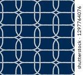 seamless nautical rope pattern. ... | Shutterstock .eps vector #1297764076