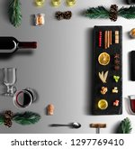mulled wine recipe ingredients... | Shutterstock . vector #1297769410
