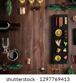 mulled wine recipe ingredients... | Shutterstock . vector #1297769413