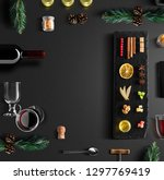 mulled wine recipe ingredients... | Shutterstock . vector #1297769419