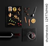 mulled wine recipe ingredients... | Shutterstock . vector #1297769440
