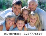 multi generation family son... | Shutterstock . vector #1297776619