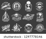 vintage space exploration logos ...   Shutterstock .eps vector #1297778146