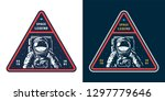 colorful space label with... | Shutterstock .eps vector #1297779646