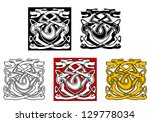 dogs ornamental pattern in... | Shutterstock .eps vector #129778034