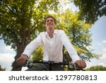 young smiling businessman... | Shutterstock . vector #1297780813