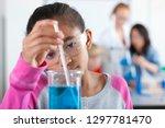 female high school students... | Shutterstock . vector #1297781470