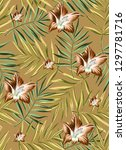 floral seamless pattern  with... | Shutterstock . vector #1297781716