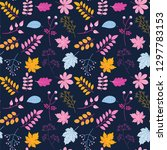 vector seamless pattern with... | Shutterstock .eps vector #1297783153