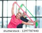 active senior couple exercising ... | Shutterstock . vector #1297787440