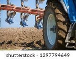 detail of tractor and plough... | Shutterstock . vector #1297794649