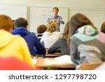 male high school teacher... | Shutterstock . vector #1297798720