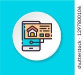flat color icon home search...