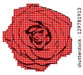 Stock vector halftone rose 129781913