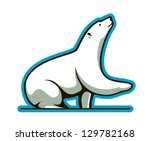 Polar bear. Jpeg version also available in gallery - stock vector