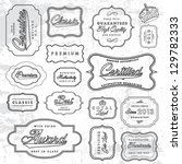 vector retro label set | Shutterstock .eps vector #129782333