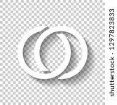 wedding rings  pair linked... | Shutterstock .eps vector #1297823833