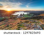 stunning sunrise from loughrigg ... | Shutterstock . vector #1297825693