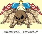rebel flag wing skull   Shutterstock .eps vector #129782669