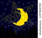 good night and sweet dreams... | Shutterstock .eps vector #1297830709