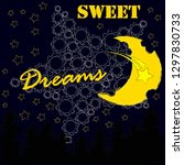 good night and sweet dreams... | Shutterstock .eps vector #1297830733