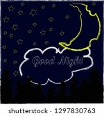 good night and sweet dreams... | Shutterstock .eps vector #1297830763