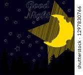 good night and sweet dreams... | Shutterstock .eps vector #1297830766