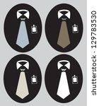tie collection set | Shutterstock .eps vector #129783530