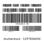 bar code label price icon.... | Shutterstock .eps vector #1297836040