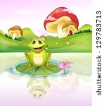 illustration of a frog watching ... | Shutterstock .eps vector #129783713