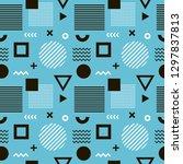 seamless trendy art abstract...   Shutterstock .eps vector #1297837813