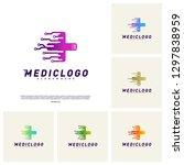 set of medical tech logo design ... | Shutterstock .eps vector #1297838959