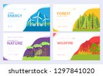 ecology day vector brochure... | Shutterstock .eps vector #1297841020