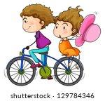 illustration of the lovers... | Shutterstock .eps vector #129784346