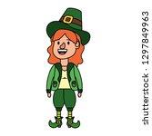 leprechaun female avatar | Shutterstock .eps vector #1297849963