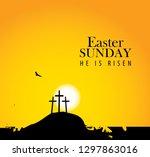 vector landscape on religious...   Shutterstock .eps vector #1297863016