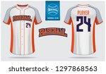 baseball jersey or raglan t... | Shutterstock .eps vector #1297868563