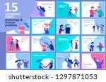 vector people in bad emotions ... | Shutterstock .eps vector #1297871053