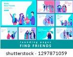 vector people happy friends... | Shutterstock .eps vector #1297871059