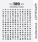 universal icon set. | Shutterstock .eps vector #1297876699
