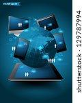 technology business concept ... | Shutterstock .eps vector #129787994