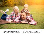 family on weekend. mother... | Shutterstock . vector #1297882213