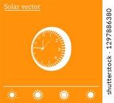 vector clock icon. vector... | Shutterstock .eps vector #1297886380