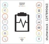 electrocardiogram symbol icon.... | Shutterstock .eps vector #1297890463